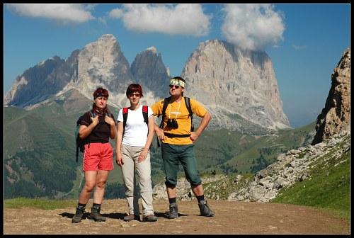 Marcela, Jana a Lumír v dobré společnosti SassoLunga