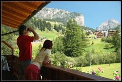 Na našem balkóně - výhled jak víno!