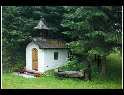 Soukromá kaplička našich bytných na zahradě penzionu