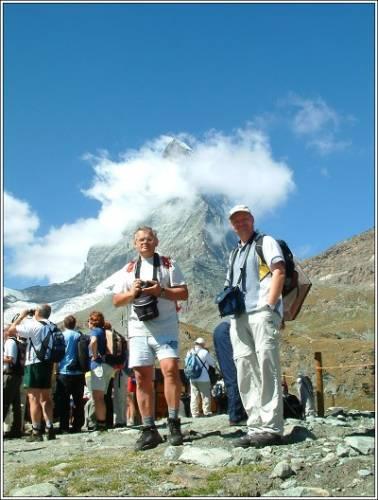 Ferda a já před výstupem pod Matterhorn